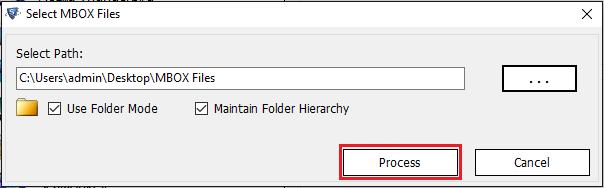 click on process