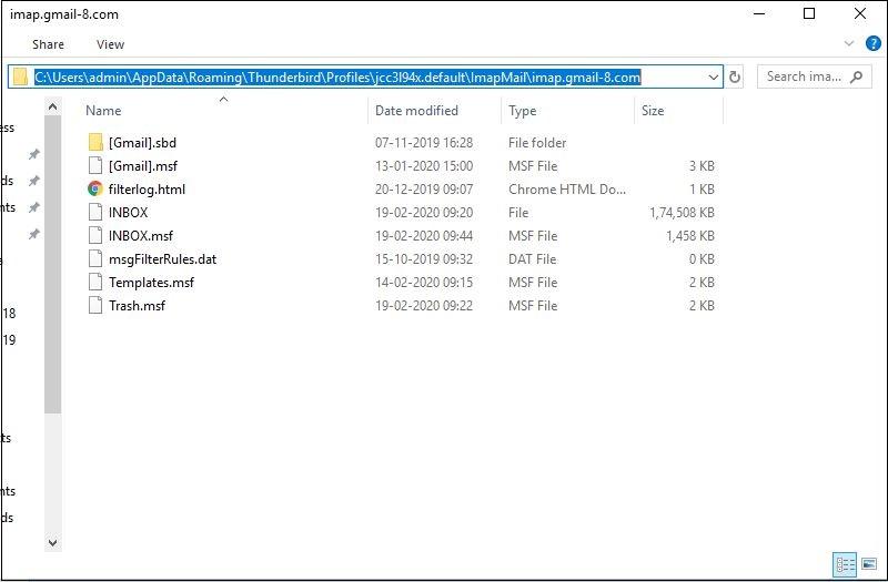 locate msf files