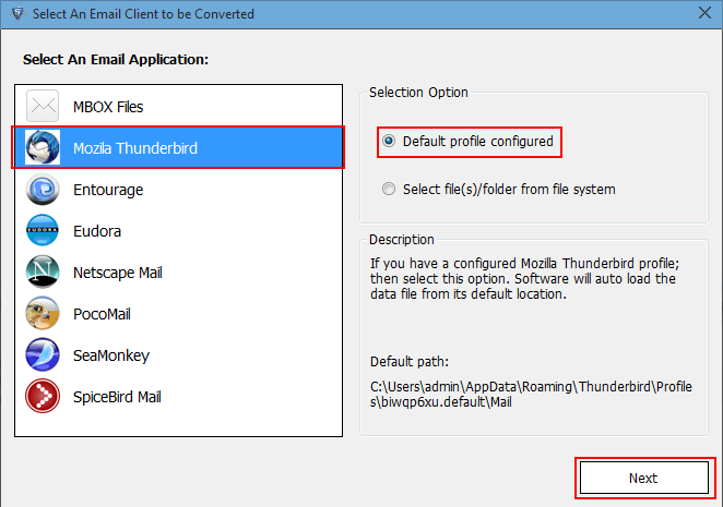 how to save thunderbird emails to external hard drive